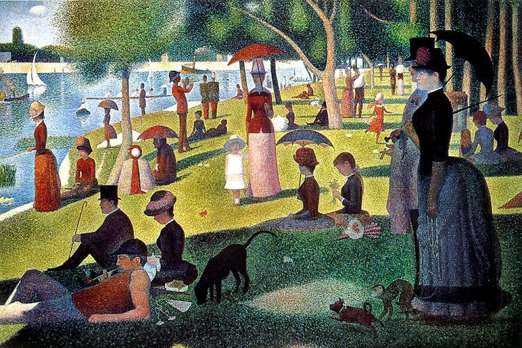 Yes it s the cast of the office re creating george seurat s famous